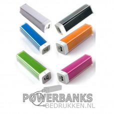 Powerbank nr2 mobiele oplader bedrukken